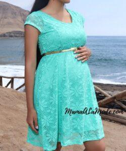 Vestido para embarazadas Coral