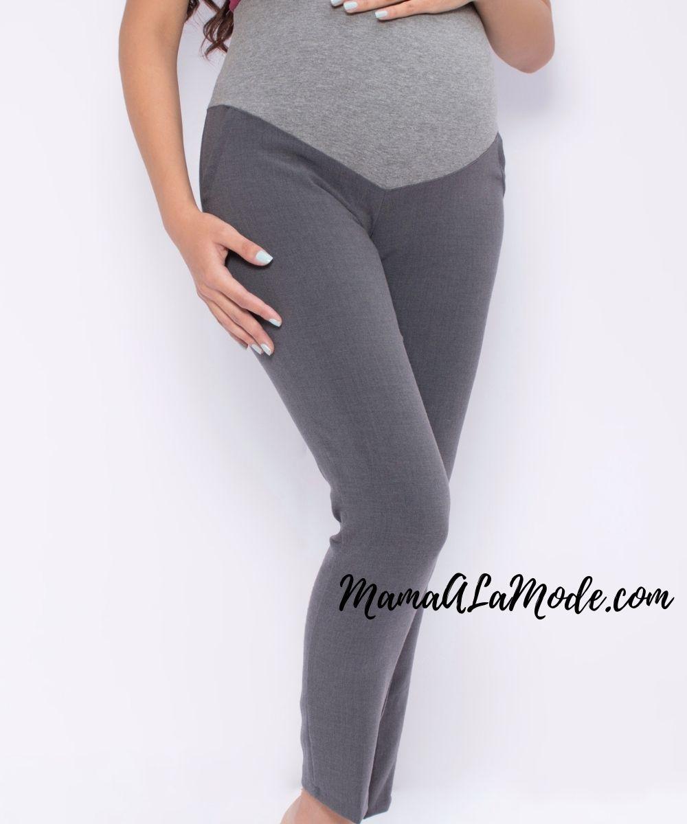 Pantalon Materno Darlyn Plomo Mama A La Mode