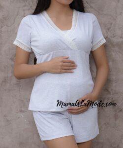 Pijama de embarazo y lactancia Solé