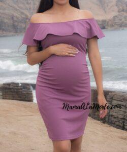 Vestido para embarazadas Off Shoulder